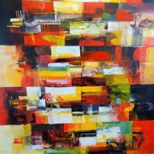 Abstrakti Teos 140 x 190 cm Sebastian Isokangas