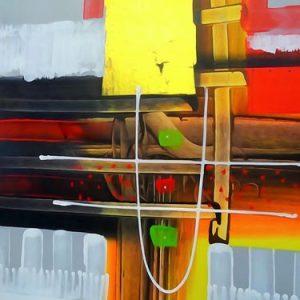 Abstrakti Teos 50 x 60 cm Sebastian Isokangas