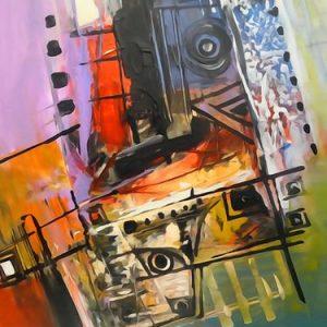 Abstrakti Teos 55 x 75 cm Sebastian Isokangas