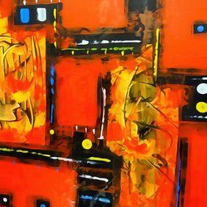 Abstrakti Teos 70 x 90 cm Sebastian Isokangas