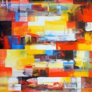 Abstrakti Teos 90 x 110 cm Sebastian Isokangas