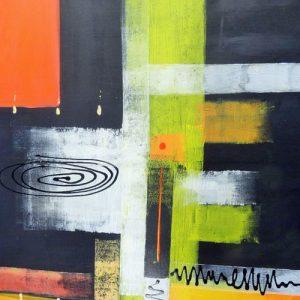 Abstrakti Teos 90 x 90 cm Sebastian Isokangas