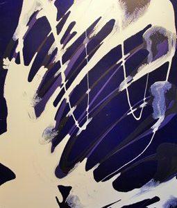 Abstrakti Teos Sinistä 80 x 120 cm Sebastian Isokangas