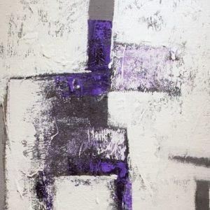 Abstrakti Teos Skandinavia-sarjaa Lilaa 70 x 90 cm Sebastian Isokangas