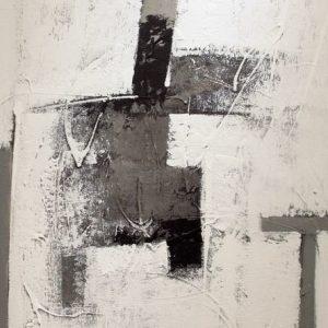 Abstrakti Teos Skandinavia-sarjaa Mustaa ja valkoista 100 x 120 cm Sebastian Isokangas