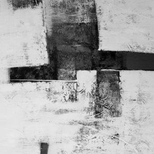 Abstrakti Teos Skandinavia-sarjaa Mustaa ja valkoista 150 x 200 cm Sebastian Isokangas