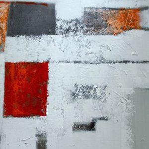 Abstrakti Teos Skandinavia-sarjaa Punaista 100 x 120 cm Sebastian Isokangas