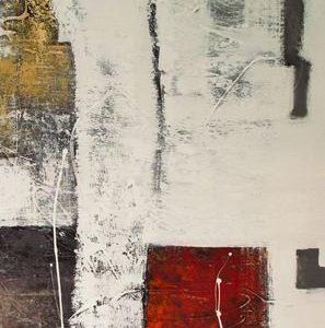 Abstrakti Teos Skandinavia-sarjaa Punaista 120 x 200 cm Sebastian Isokangas
