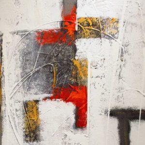 Abstrakti Teos Skandinavia-sarjaa Punaista 70 x 90 cm Sebastian Isokangas