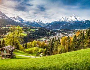 Alppimökki Sveitsi 2007 Canvas-taulu