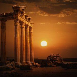 Apollon Temppeli Antalya 593 Canvas-taulu