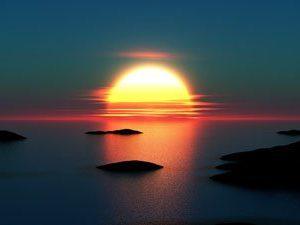 Auringonlasku 1465 Canvas-taulu