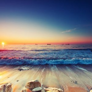 Auringonlasku Hanko 150 Canvas-taulu