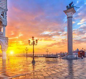 Auringonlasku Venetsiassa 2000 Canvas-taulu