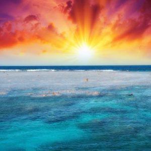 Auringonsarastus Merellä 1837 Canvas-taulu