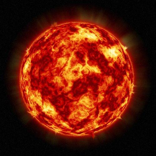 Aurinko Suurennettuna 136 Canvas-taulu