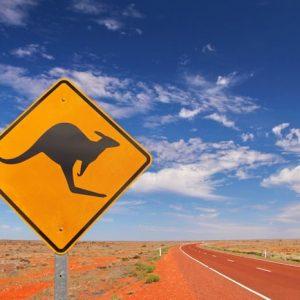 Australia Highway 884 Canvas-taulu