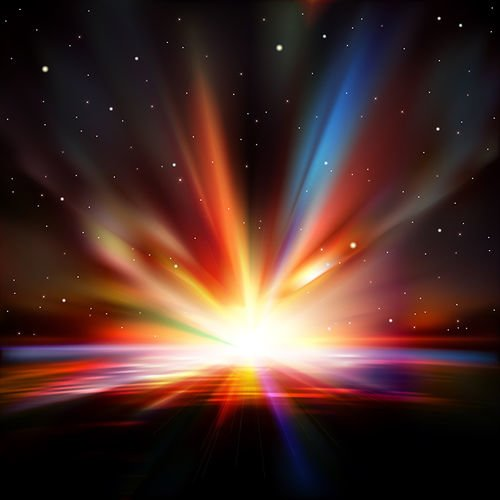 Avaruuden Auringonlasku 135 Canvas-taulu