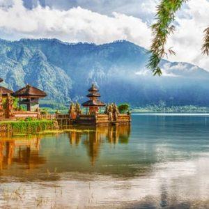 Bali Pura Ulun Danu 236 Canvas-taulu