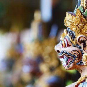 Balilainen Veistos 613 Canvas-taulu