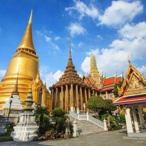 Bangkok Wat Phra Kaeon Temppeli 422 Canvas-taulu