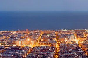 Barcelona Panoraamakuva 835 Canvas-taulu