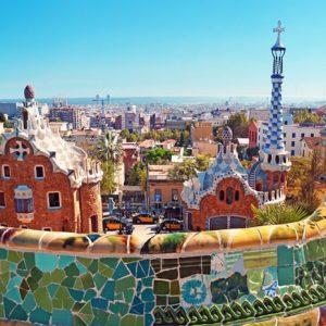 Barcelona Park Guell 229 Canvas-taulu