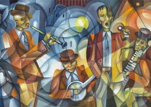 Blues 1849 Canvas-taulu
