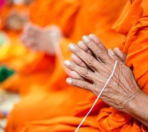 Buddhalaismunkit 2108 Canvas-taulu