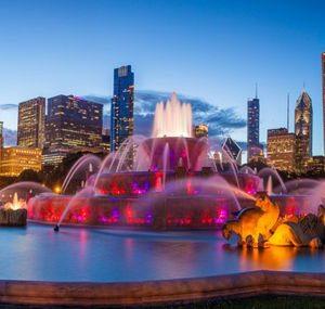 Chicago Buckingham Fountain 290 Canvas-taulu