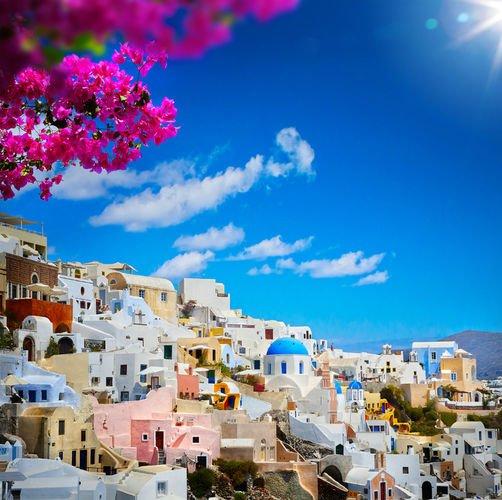 Fira Santorini 972 Canvas-taulu