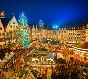 Frankfurtin Joulumarkkinat 2081 Canvas-taulu
