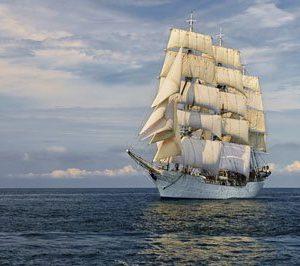 Fregatti Merellä 2075 Canvas-taulu