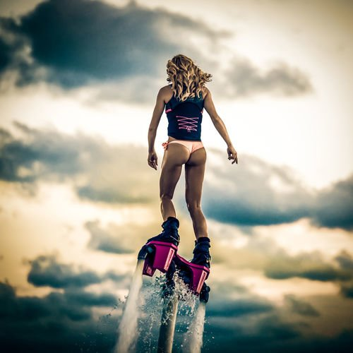 Girl With Flyboard 363 Canvas-taulu